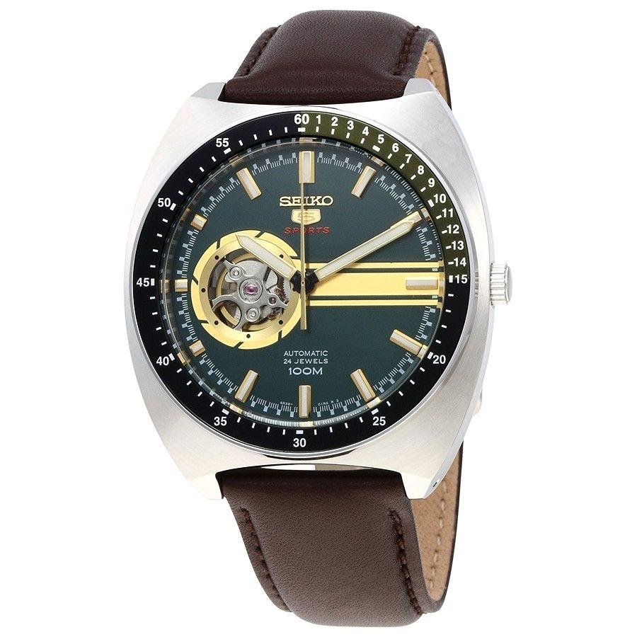 นาฬิกาผู้ชาย Seiko รุ่น SSA333K1, 5 Sports Automatic 24 Jewels Open Heart