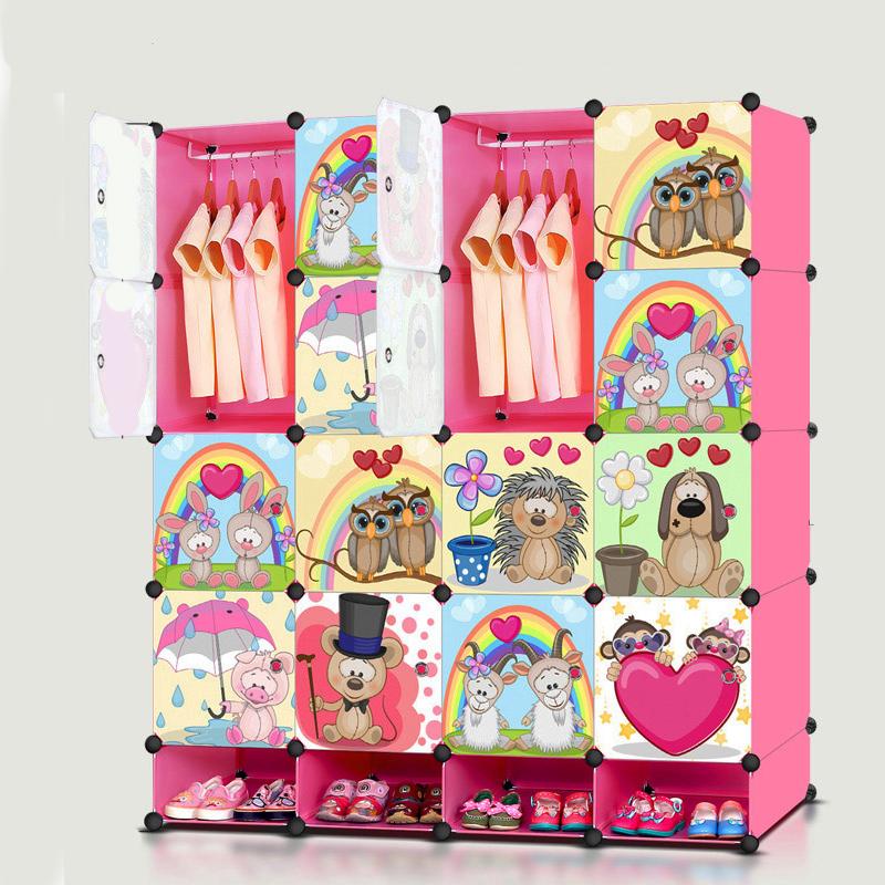 ตู้เก็บของ ตู้เสื้อผ้าเด็ก DIY ลาย หัวใจและสัตว์