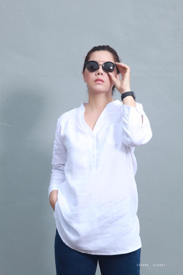 เสื้อลินินลองเชิ้ตสีขาว ( รอ 15 วัน )