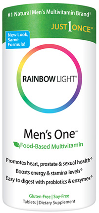Rainbow Light, Just Once, Men's One, Food-Based Multivitamin, 150 Tablets