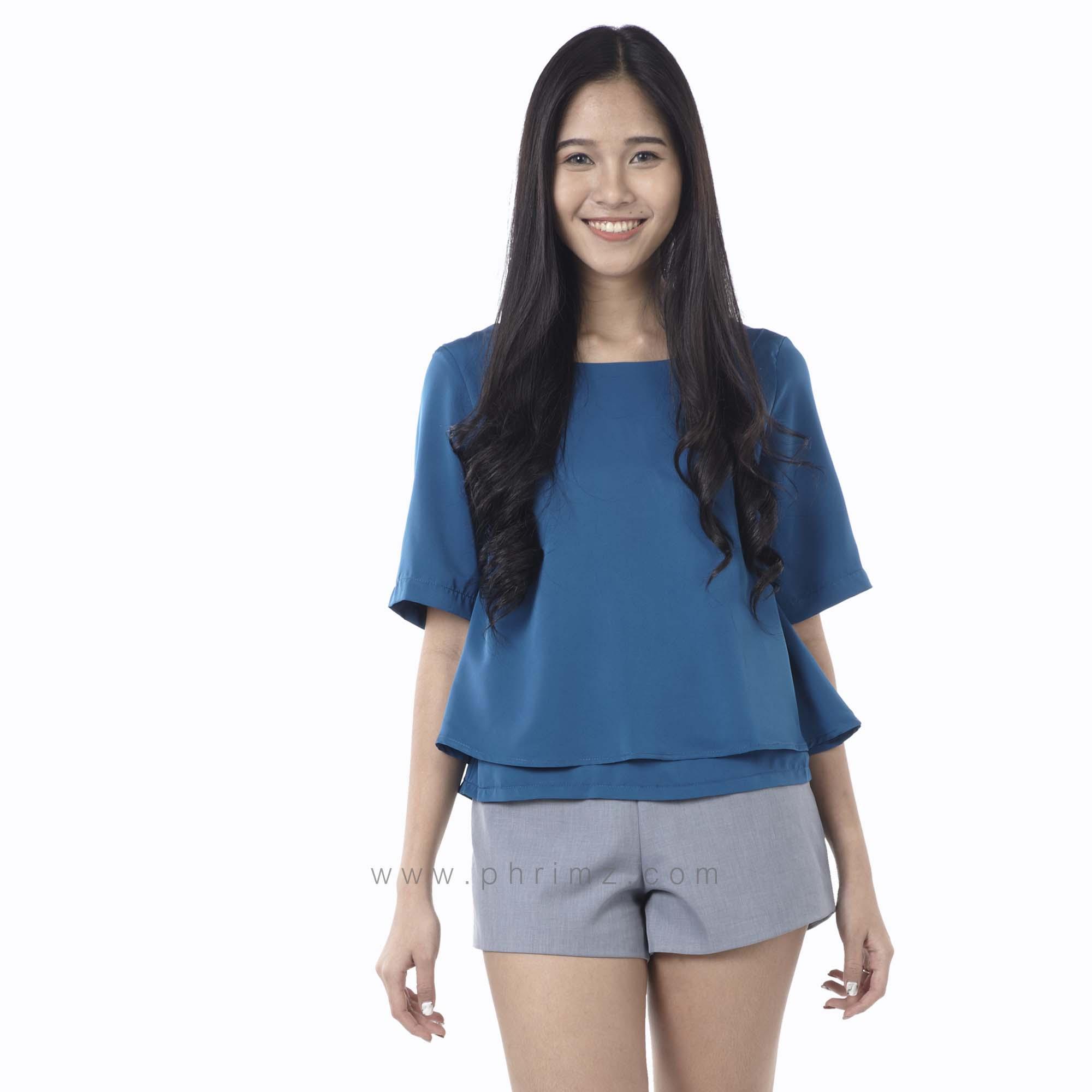เสื้อให้นม Phrimz : Cindy Breastfeeding Top - Sapphire
