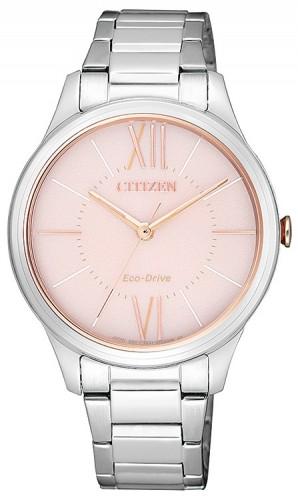 นาฬิกาข้อมือผู้หญิง Citizen Eco-Drive รุ่น EM0415-54W, Elegant Watch