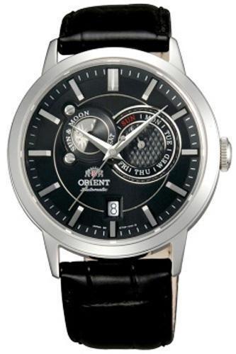 นาฬิกาข้อมือผู้ชาย Orient รุ่น SET0P003B0, Multi-Eyes Sun & Moon Sapphire Automatic Leather Watch
