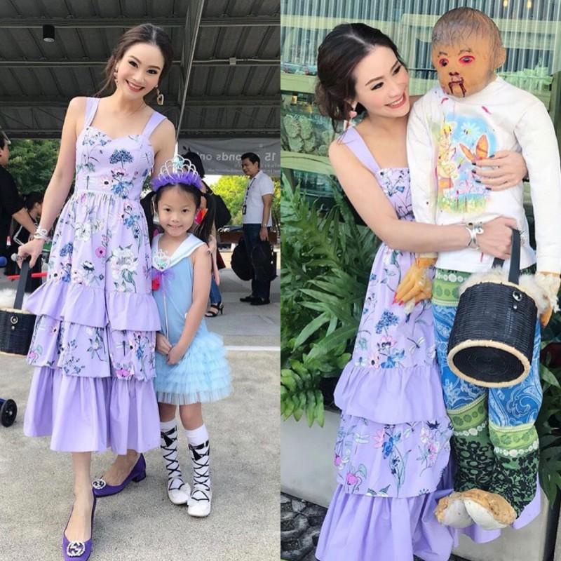 เสื้อผ้าแฟชั่นเกาหลี Normal Ally Present Secret garden premium dress