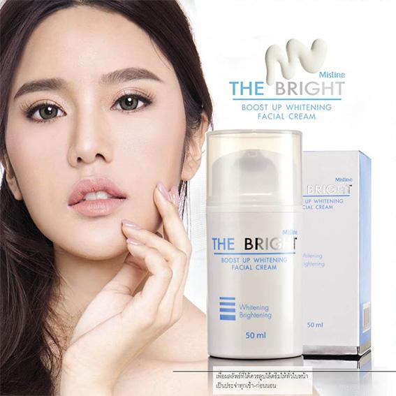 Mistine The Bright Boost Up Whitening Facial Cream มิสทิน เดอะ ไบร์ บูสท์ อัพ ไวท์เทนนิ่ง เฟเชี่ยล ครีม