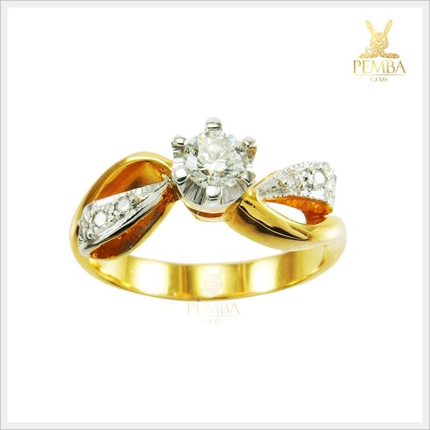 แหวนเพชรแท้ ทองแท้ ท่านหญิง(สามารถสั่งทำได้ค่ะ)
