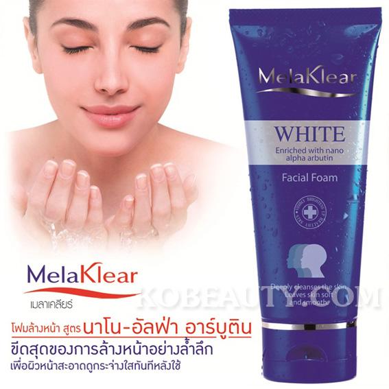โฟมล้างหน้า มิสทิน/มิสทีน เมลาเคลียร์ ไวท์ / Mistine Melaklear White Facial Foam