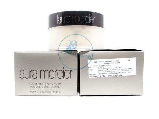 (แพคคู่ ราคาพิเศษ) Laura Mercier Loose Setting Powder 29g x 2 # Translucent แป้งฝุ่นไม่ผสมรองพื้นโปร่งแสงเนื้อบางเบาแสนละเอียดทำให้ผิวดูสวยเป็นธรรมชาติ
