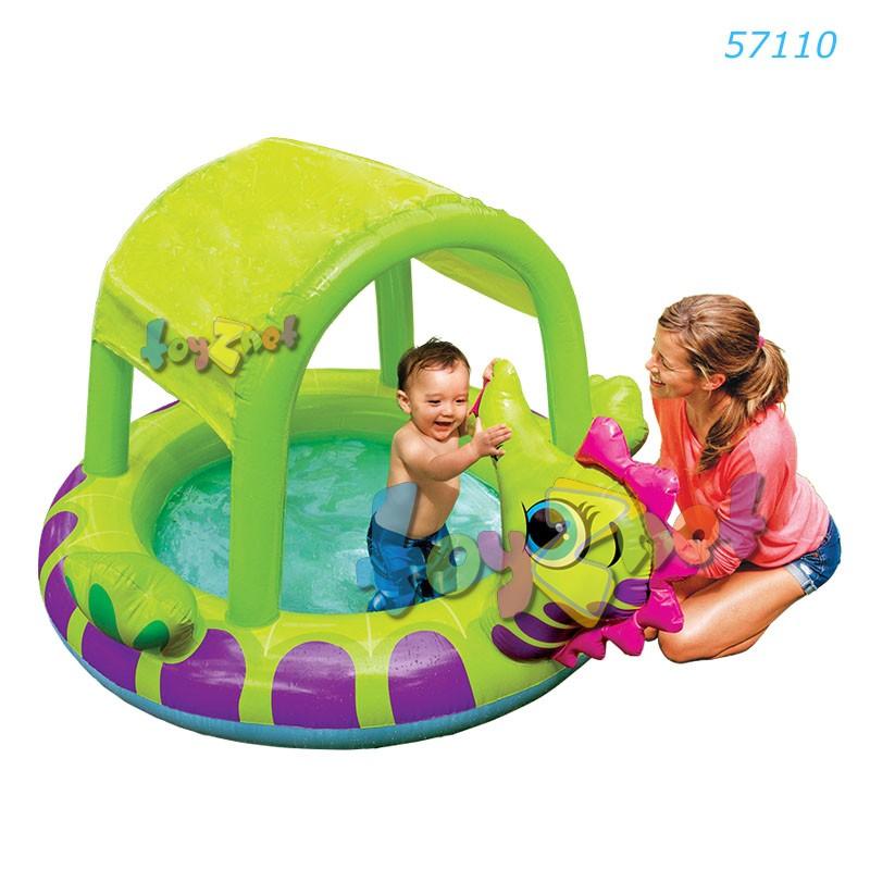 Intex สระเด็กเล็กม้าน้ำ พร้อมที่บังแดด รุ่น 57110