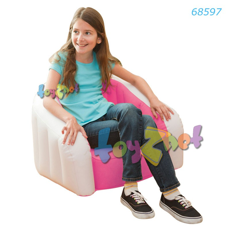 Intex เก้าอี้เด็กเป่าลม จูเนียร์คาเฟ่คลับ สีชมพู รุ่น 68597PK