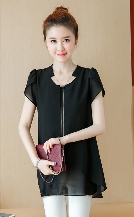 เสื้อทำงานผู้หญิงสีดำ