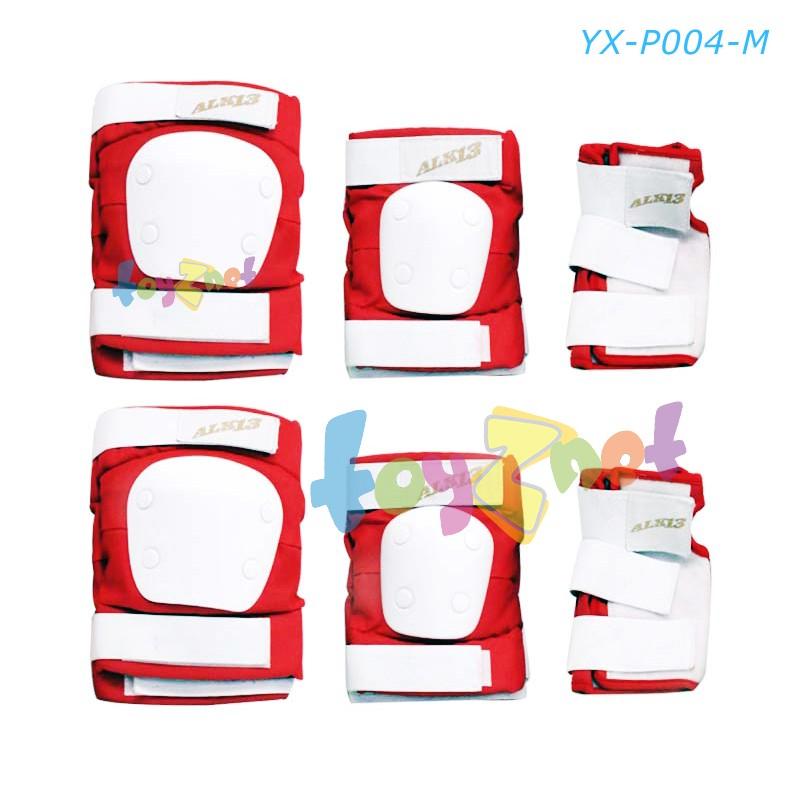 ชุดสนับป้องกันเข่า-ข้อศอก-ข้อมือ ขนาด M แดง รุ่น YX-P004-M