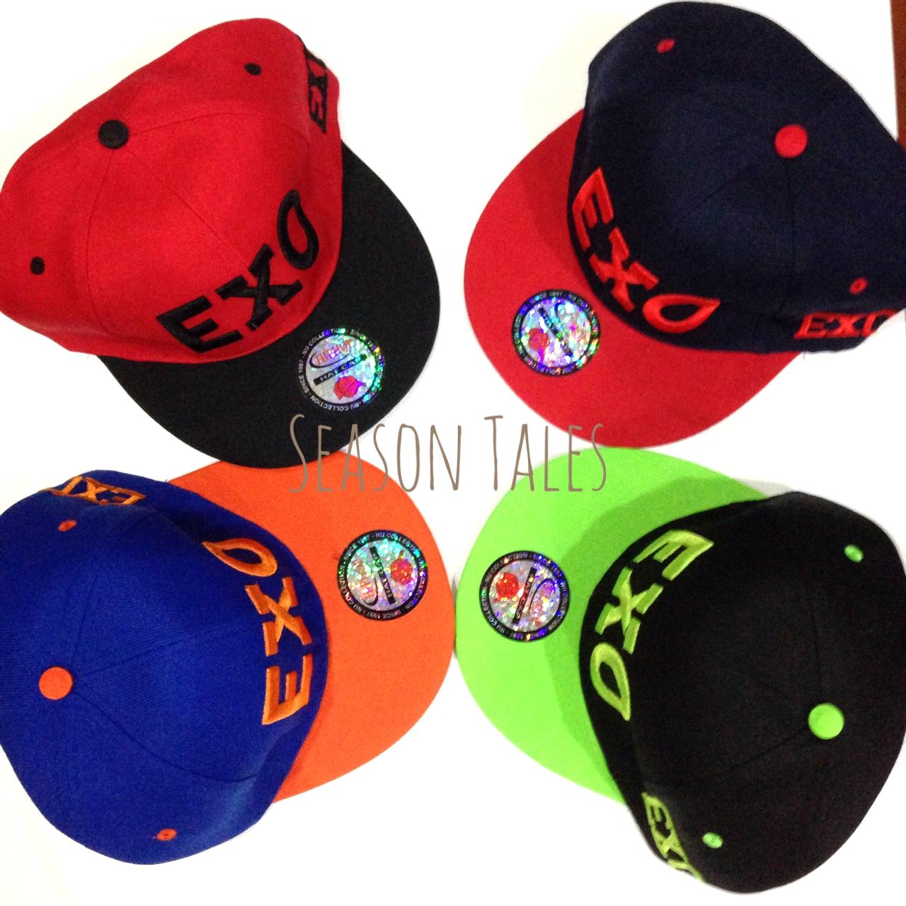หมวกฮิปฮอป HipHop Snapback ปัก EXO