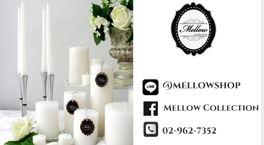 Mellow Collectiong เทียนหอม เทียนทีไลท์ เทียมหอม เทียนแท่ง คริสมาสต์เทียนหอม