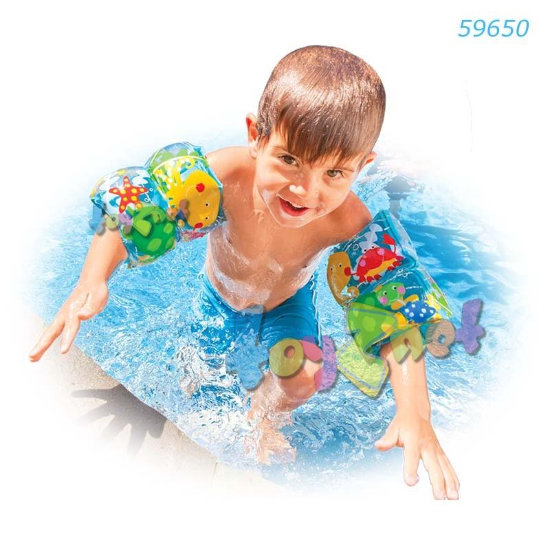 Intex ที่สวมแขนว่ายน้ำเพื่อนสัตว์ทะเล ลายปลาหมึก รุ่น 59650