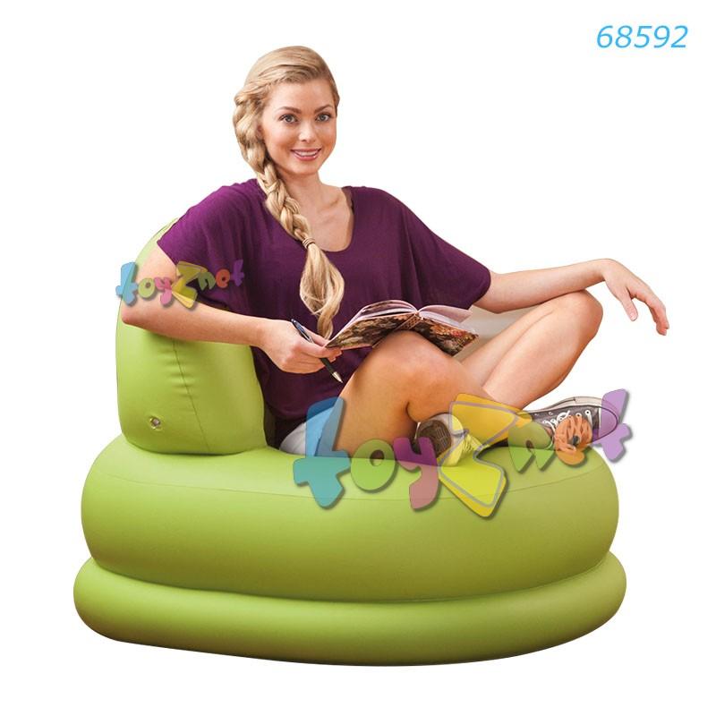 Intex เก้าอี้เป่าลม โหมดแชร์ สีเขียว รุ่น 68592
