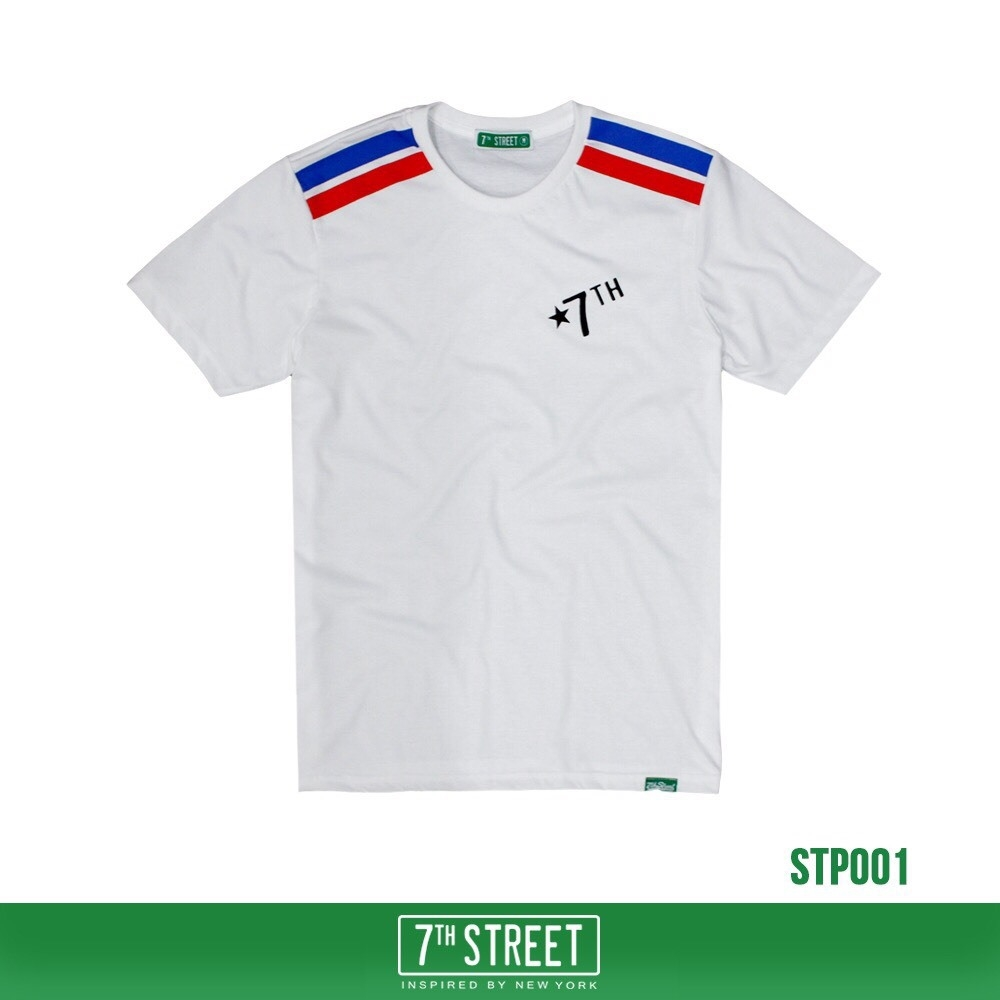เสื้อยืด 7TH STREET - รุ่น TWO STRIPE | White
