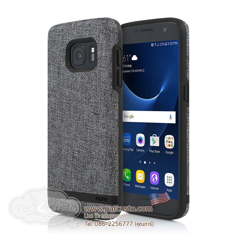 เคสกันกระแทกหลังลายผ้า Samsung Galaxy S7 [Esquire Series] จาก Incipio Preston [Pre-order USA]
