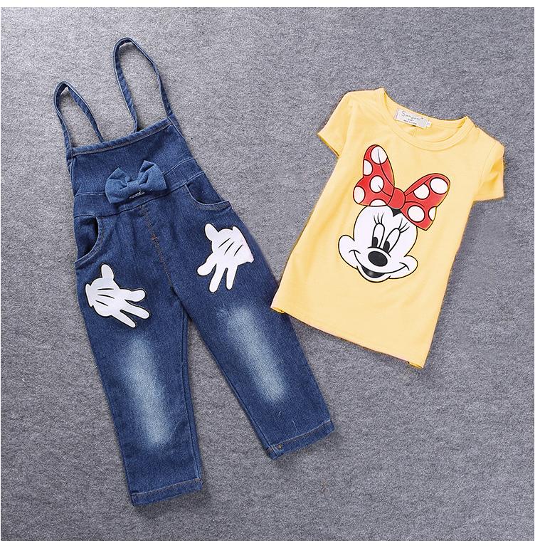 เสื้อเหลือง+เอี๊ยมยีนส์ (1-4 ปี)
