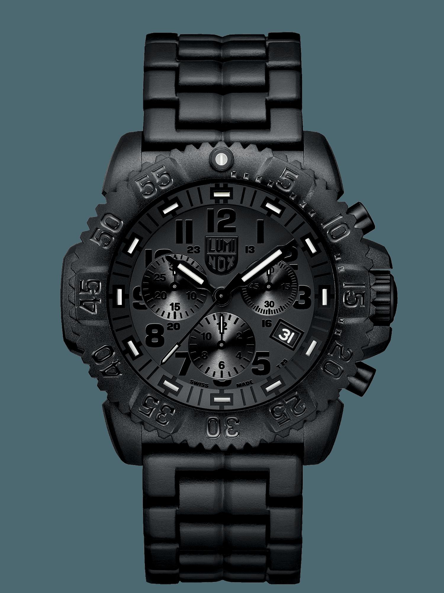 นาฬิกา Luminox รุ่น LUMINOX XS.3082.BO (สายข้อแข็ง PC Carbon) Men Navy SEAL Blackout Chronograph