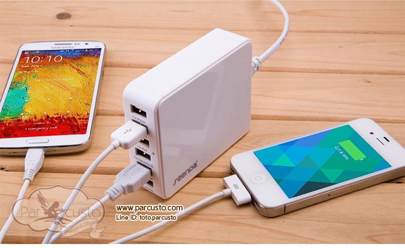 ที่ชาร์จ Smartphone, Tablet 6 Ports รุ่น ICH-03 จาก seenDa [Pre-order]