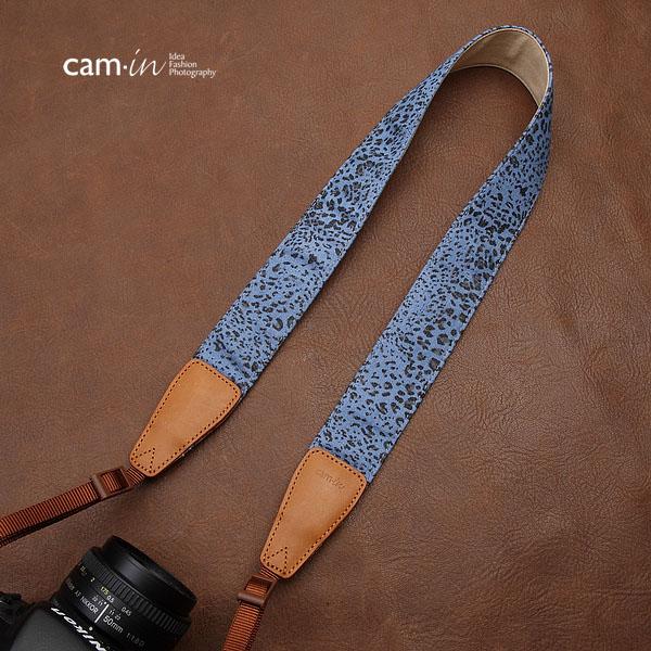 สายคล้องกล้องลายเสือดาว cam-in Blue Leopard