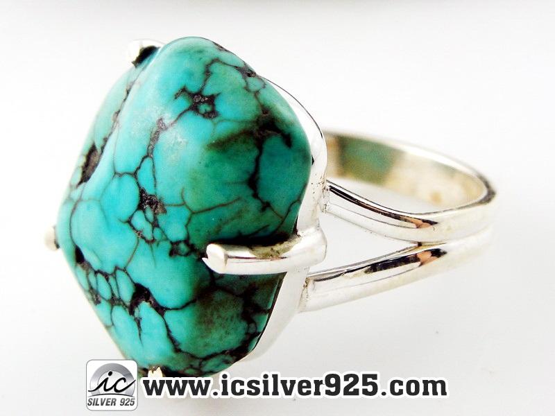 ▽เทอร์ควอยซ์ Turquoise แหวนเงินแท้ 925 (แหวนเบอร์ : 57)