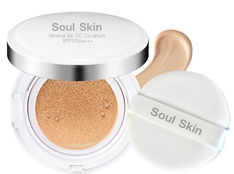 Soul Skin Mineral Air CC Cushion SPF 50 PA+++ 15g. เบอร์21 ผิวขาว-ขาวเหลือง