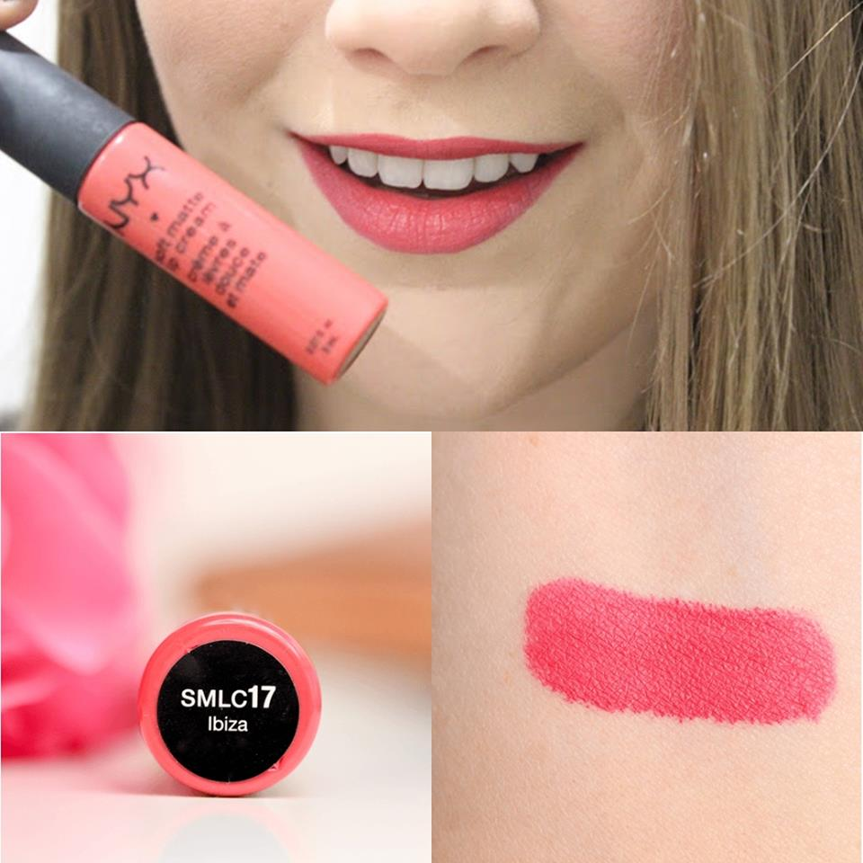 NYX Soft Matte Lip Cream 6.5g # SMLC 17 Ibiza (Matte deep rose pink) ลิปครีม เนื้อแมท นุ่ม สีติดทนนาน ไม่แห้งด้าน ให้สัมผัสที่แปลก