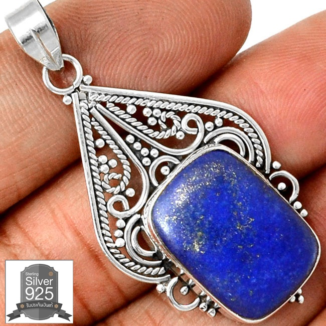 ▽จี้เงินแท้ 925 - ลาพิส ลาซูลี่ (Lapis Lazuli)