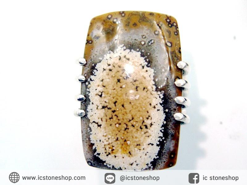 โอเชี่ยน แจสเปอร์ (Ocean Jasper) แหวนเงินแท้ 925 (แหวนเบอร์ : 55)