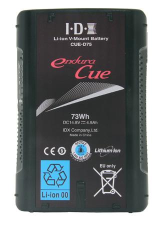 IDX CUE-D75 73Wh Li-ion V-Mount Battery with D-Tap output