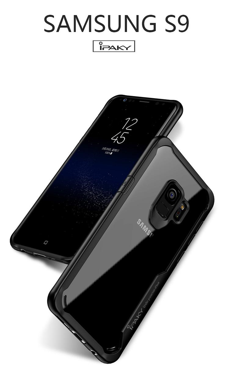เคสกันกระแทก iPAKY LEKOO Series Silicone Frame Galaxy S9+ / S9 Plus