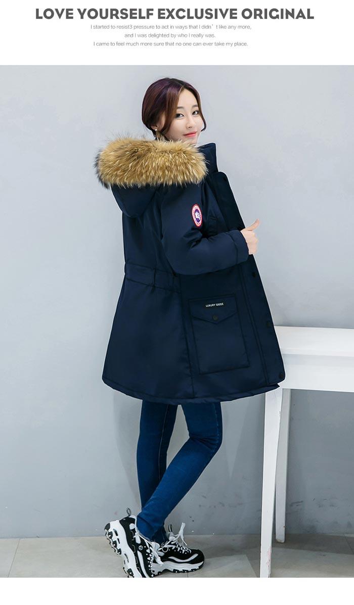 เสื้อกันหนาวผู้หญิงแฟชั่นเกาหลี สีกรม แจ็คเก็ตมีฮู้ด มีเฟอร์ขนสัตว์ ไอเทมเด็ด หนาวนี้ ต้องมี