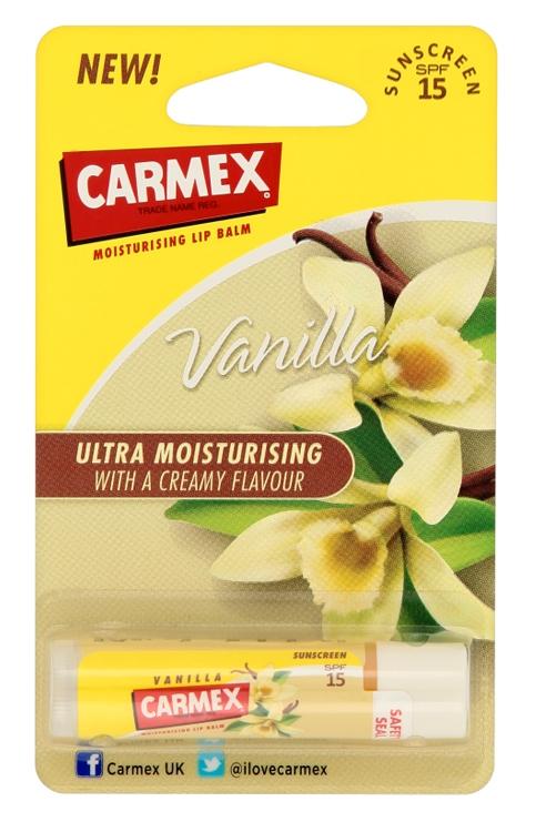 Carmex Vanilaa Lip Balm SunScreen 4.25g. แท่งหมุน