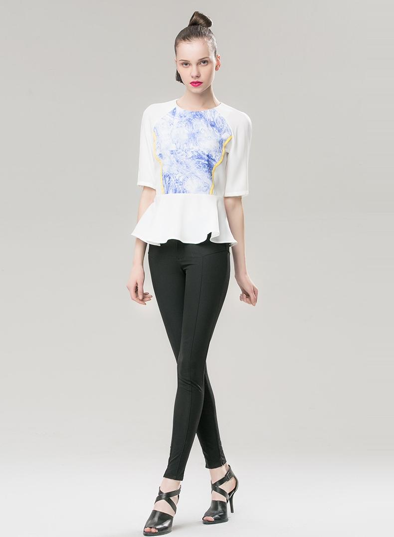 เสื้อสีขาวสวยๆ,เสื้อสีฟ้าสวยๆ,เสื้อเอวระบาย