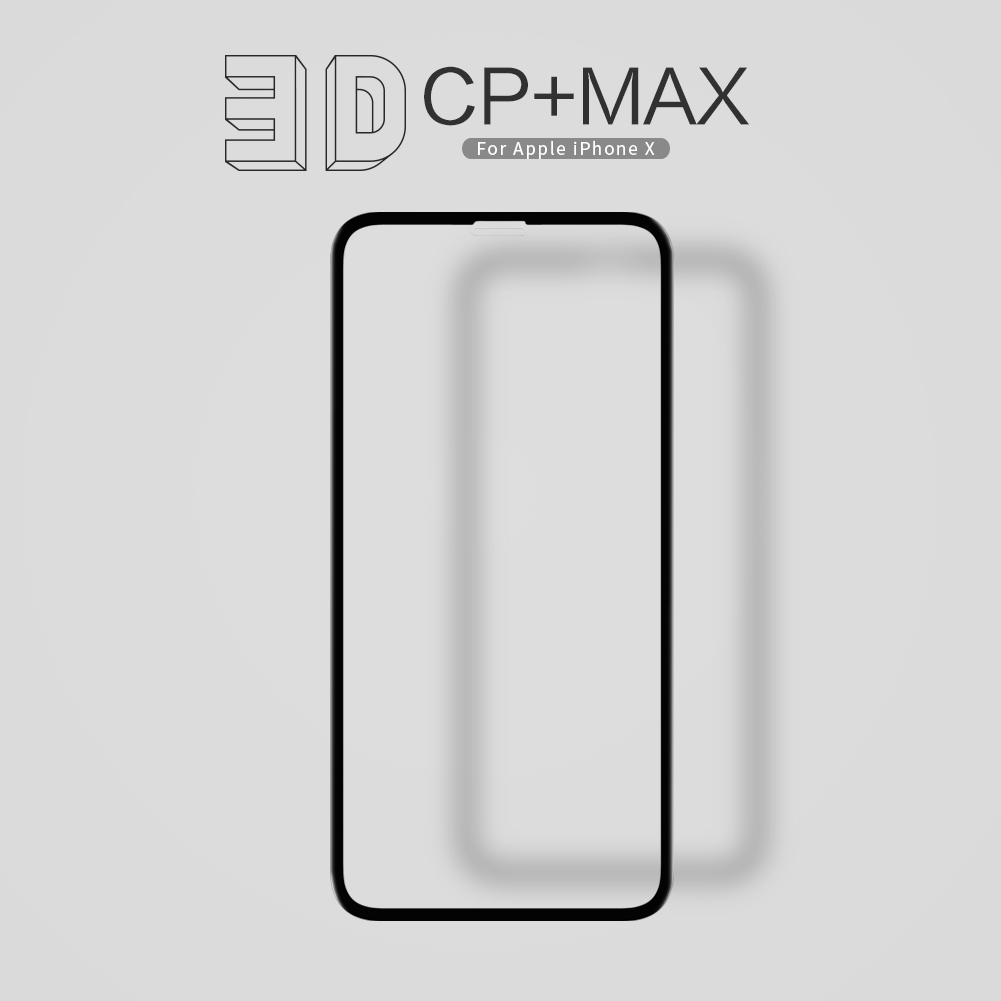 กระจกนิรภัย NILLKIN 3D CP+ MAX iPhone X สีดำ