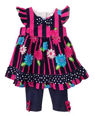 **Gymboree** SM1805 Size 9/12, 12/18, 18/24m เสื้อผ้าเด็กขายส่ง ยกแพค 6 ชุดต่อแบบ ครบไซส์