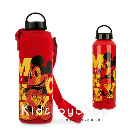 กระติกน้ำพร้อมกระเป๋าหิ้ว Mickey Mouse Water Bottle with Neoprene Cover