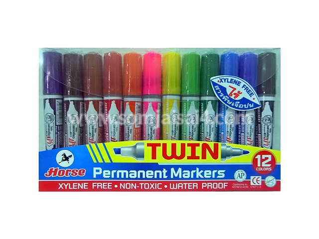 Horse TWIN Permanent Markers set