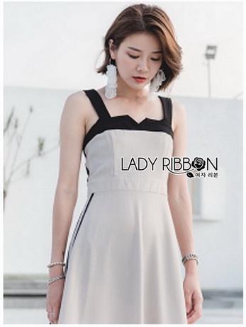 Lady Gabby Two-Tone Vintage Crepe Dress