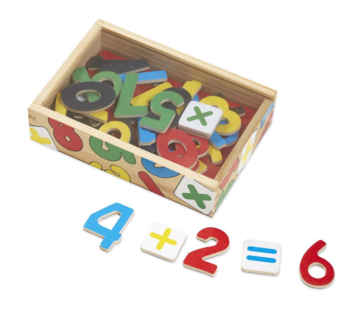 แม่เหล็กตัวเลขหรรษา Melissa and doug Magnetic Wooden Numbers