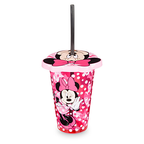 แก้วน้ำพร้อมหลอด Minnie Mouse Tumbler with Straw [USA][n]