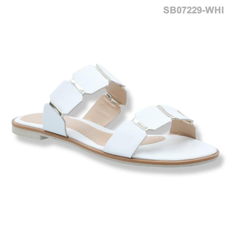 ลดล้างสต๊อก รองเท้าส้นแบน SB07229-WHI [สีขาว]