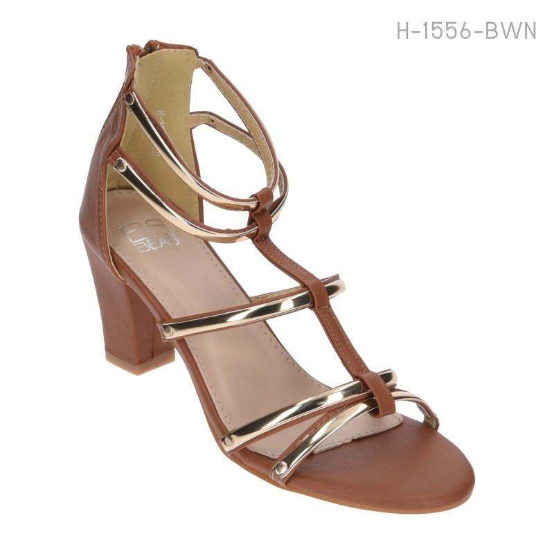 ลดล้างสต๊อก รองเท้าส้นสูงแฟชั่น H-1556-BWN [สีน้ำตาล]
