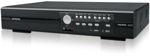 เครื่องบันทึก IP/AHD/TVI/950H 4 CH DVR QUADBRID 1080P AVTECH รุ่น AVZ404