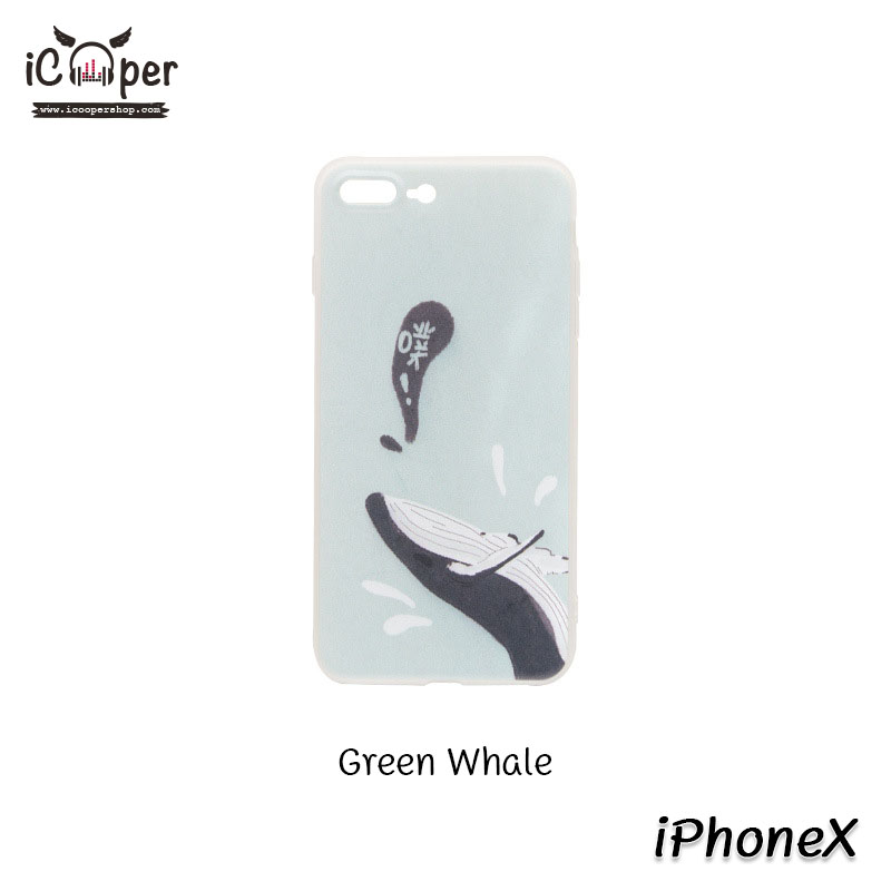 MAOXIN Island Case - Green Whale (iPhoneX)