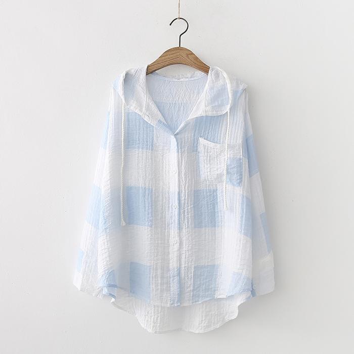 เสื้อคลุม/แจ็คเก็ตฮู้ดแขนยาว (มีให้เลือก 2 สี)