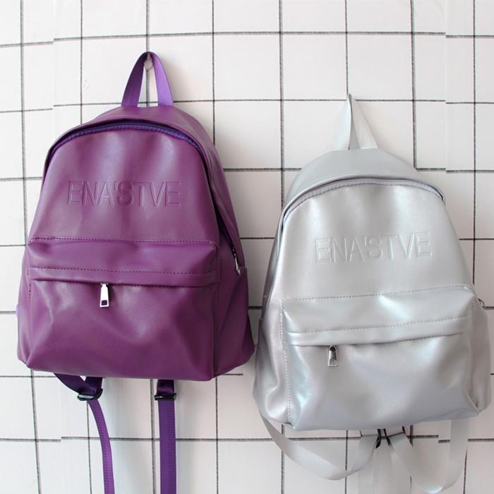 กระเป๋าเป้หนัง PU แต่งลาย (มีให้เลือก 4 สี)