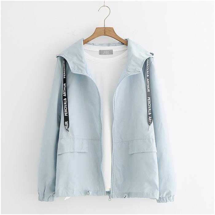 เสื้อคลุม/แจ็คเก็ตฮู้ดแขนยาว (มีให้เลือก 3 สี 2 ไซส์) *ไม่รวมเสื้อยืดด้านใน